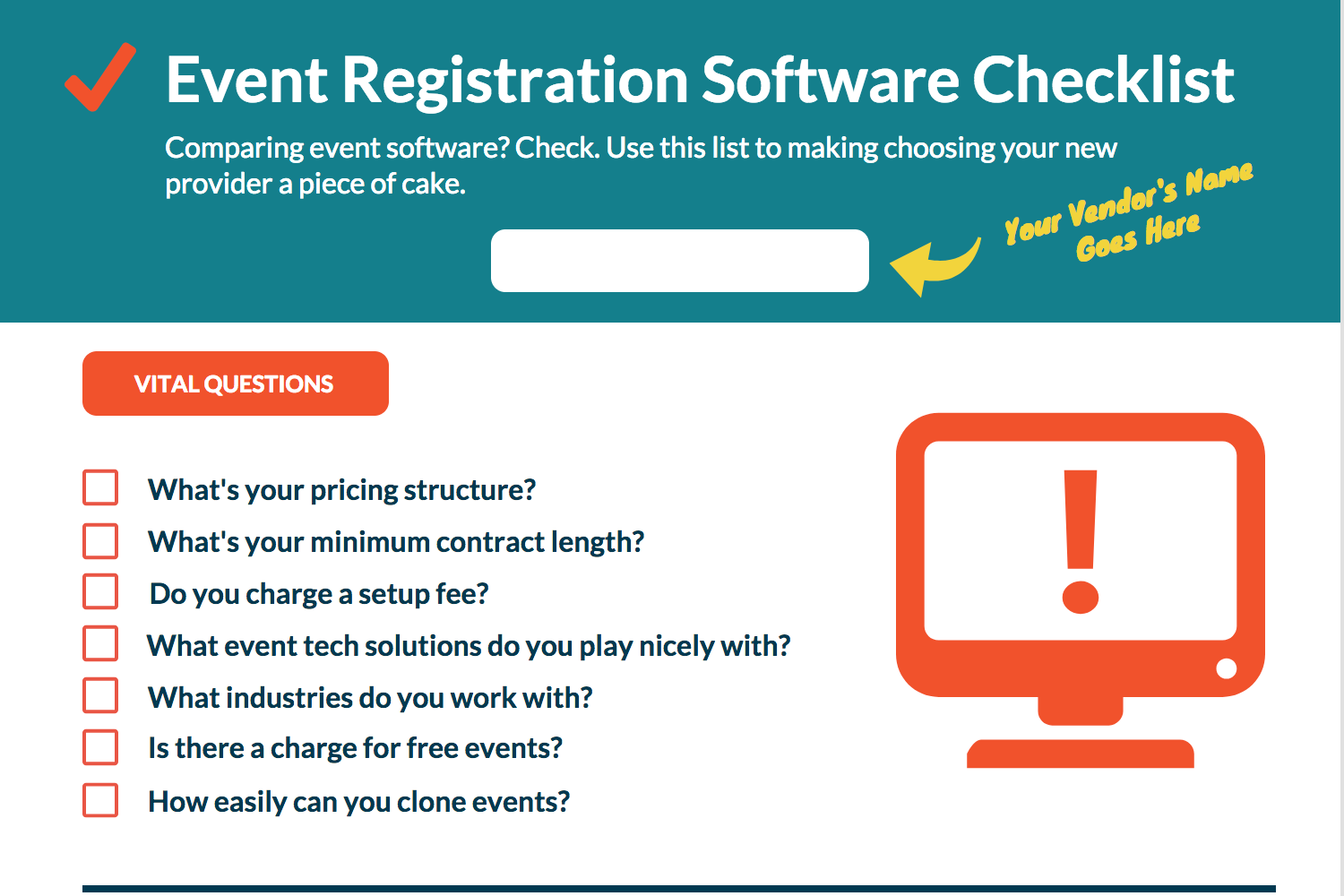 Event Registration Software Checklist